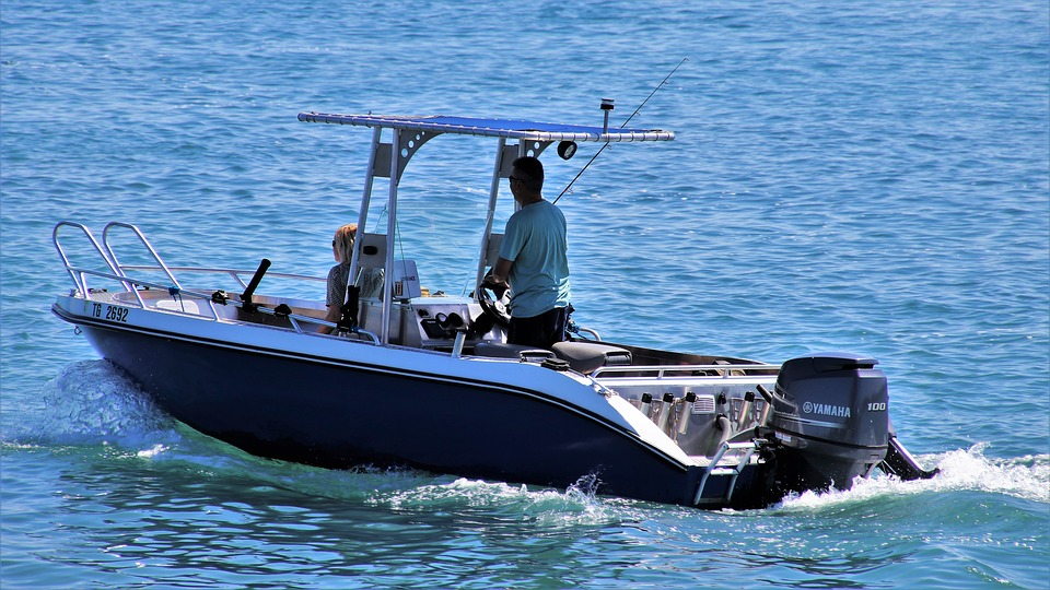 man on a scout boat